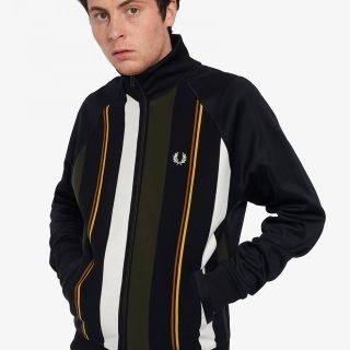 Chaqueta Fred Perry Knitted Stripe Black