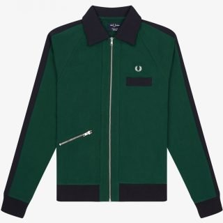 Jacket Fred Perry Slated Zip Track Jacket Ivy