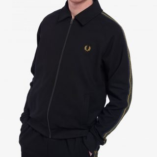 Jacket Fred Perry Striped Tape Tricot Jacket Black