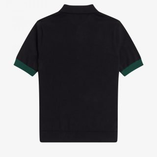 Polo Fred Perry Contrast Trim Knitted Polo Black