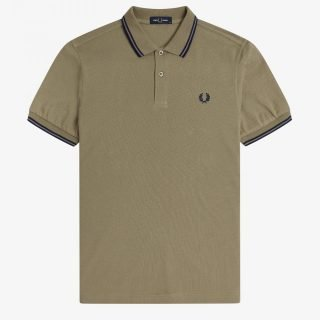 Polo Fred Perry Tee Sage French Navy French Navy