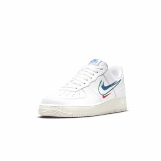 Shoes Nike Air Force 1 White Green Noise Game Royal