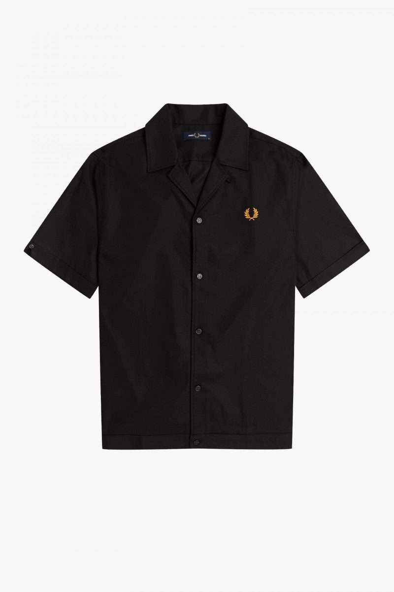 Camisa Fred Perry Revere Collar Shirt Black