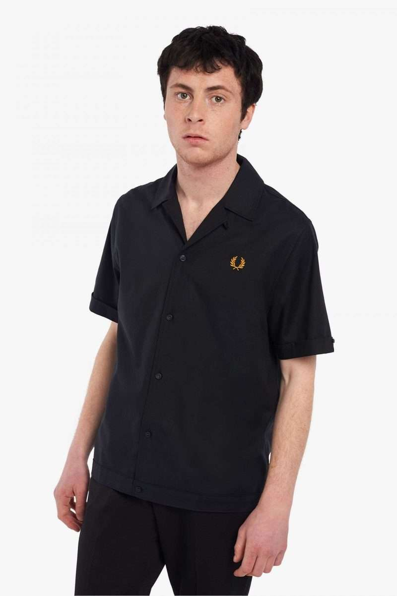 Shirt Fred Perry Revere Collar Black M2685